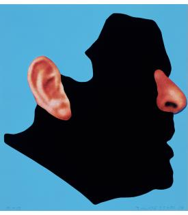 John Baldessari, Noses & Ears, Etc.: Profile with Ear and Nose (Color), 2006