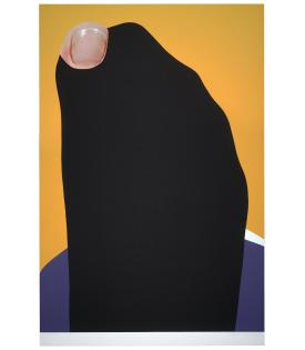 John Baldessari, Foot and Stocking (With Big Toe Exposed): Fran, 2010