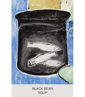 John Baldessari, Eight Soups: Black Bean Soup, 2012
