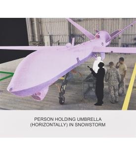 John Baldessari, The News: Person Holding Umbrella..., 2014