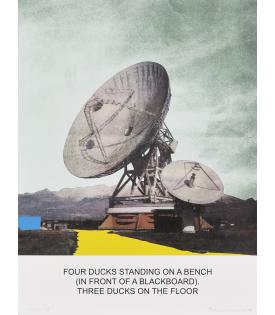 The News: Four Ducks Standing on a Bench..., 2014John Baldessari,