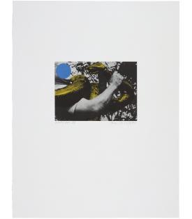 John Baldessari, Man with Snake (Blue and Yellow), 1990