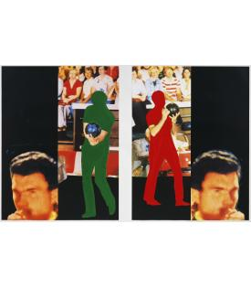John Baldessari, Two Bowlers (with Questioning Person), 1994