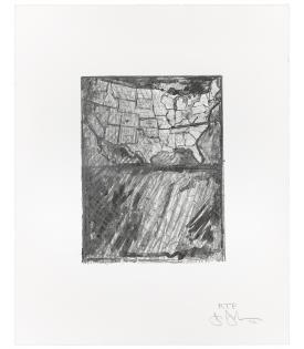 Jasper Johns, Map, 2012