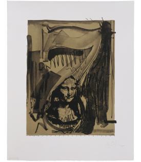 Jasper Johns, Figure 7 (from Black Numeral Series), 1968