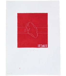 Jasper Johns, Face, 1974