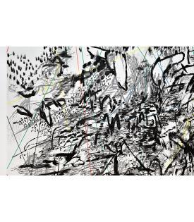 Julie Mehretu, vertiginous fold, 2014 (detail)