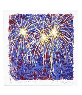 James Rosenquist, Fireworks for President Clinton, 1996