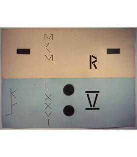 Keith Sonnier, Abaca Code-Rectangles RV, 1976