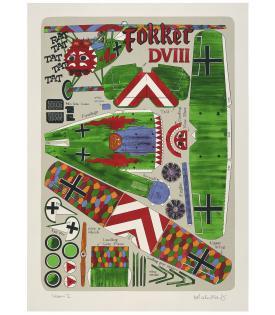 Malcolm Morley, Fokker DVIII, 2001
