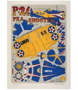 Malcolm Morley, P-26 Pea Shooter, 2001
