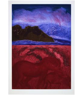 Malcolm Morley, Devon Mare With Foal With Lake Tahoe Above, 1987