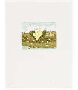 Claes Oldenburg, Butter Pat in Berkeley Hills, 1976