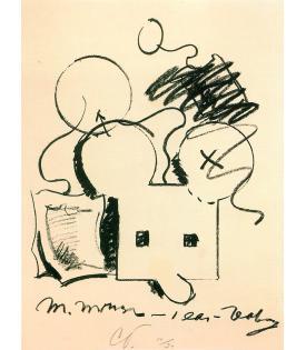 Claes Oldenburg, M.Mouse (with) 1 Ear (equals) Tea Bag (1965), 1973