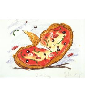 Claes Oldenburg, Pizza/Palette, 1996