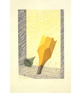 Claes Oldenburg, Proposal for a Colossal Monument in Downtown New York City: Sharpened Pencil Stub with Broken-off Tip of the Woolworth Building, 1993