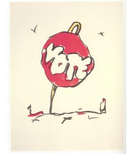 Claes Oldenburg, Voting Button in Landscape, 1984