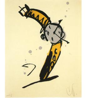 Claes Oldenburg, Wrist Watch Rising, State II, 1991