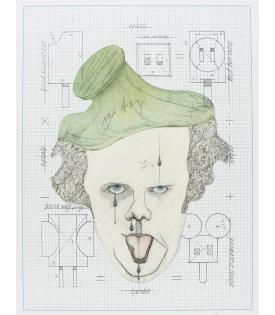 """Claes Oldenburg, Symbolic Self-Portrait with """"Equals"""", 1971"""