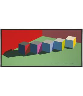 Ronald Davis, Five Block Row, 1974