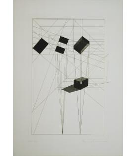 Ronald Davis, Rotation-Tilt, Black State, 1984