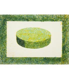 Ronald Davis, Green Disc, 1983