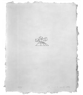 Ronald Davis, Tri-Box and Grid, 1983