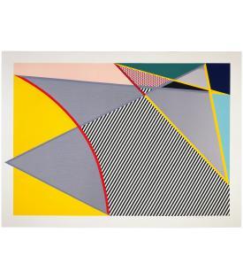 """Roy Lichtenstein, Imperfect 67 5/8"""" x 91 1/2"""", 1988"""