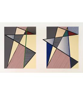 """Roy Lichtenstein, Imperfect Diptych 57 7/8"""" x 93 3/4"""", 1988"""