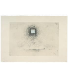 """Robert Gober, Untitled, 2000, 2-color lithograph, screenprint and embossing with hand drawing and erasure, 30 x 43 1/2"""" (76.s x 110.5 cm), Edition of 47 RoGo99-1437. Available as part of a set only."""