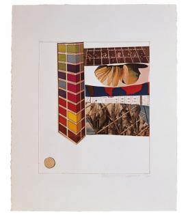 Robert Rauschenberg, Horsefeathers Thirteen - IV, 1972