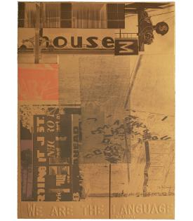 Robert Rauschenberg, American Pewter with Burroughs V, 1981