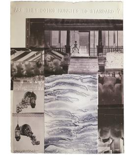 Robert Rauschenberg, American Pewter with Burroughs IV, 1981