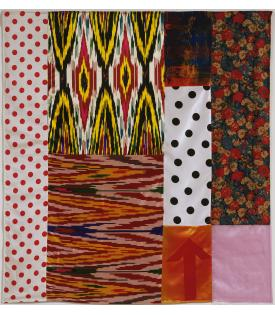 Robert Rauschenberg, Samarkand Stitches II, 1988