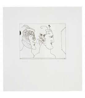 Saul Steinberg, Two Women, 1993