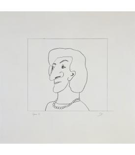 Saul Steinberg, Portrait of M, 1997