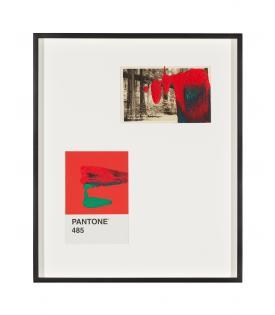 Tacita Dean, Pantone Pair (485), 2019